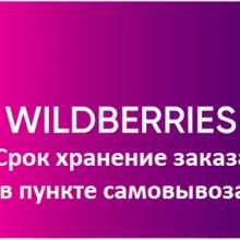 Срок хранения заказа в пункте выдачи Wildberries