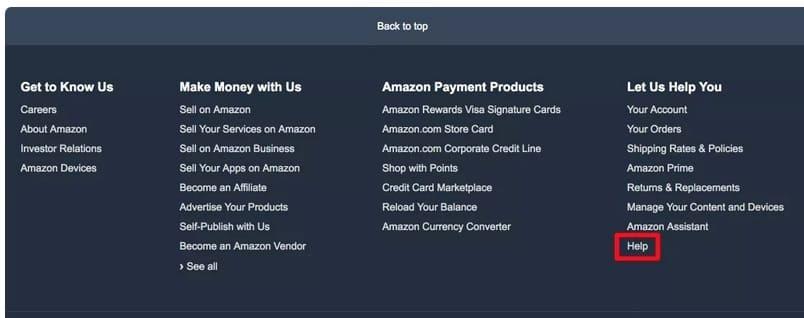 Как написать в службу поддержки Amazon